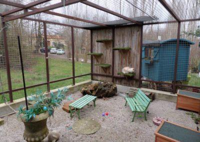 """Le jardin """"privé"""" d'une des chambres d'Ô Chat roi"""